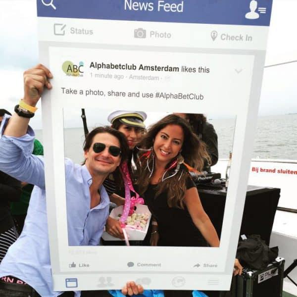Facebook Frame Facebook Bord Voor ABC Bestellen