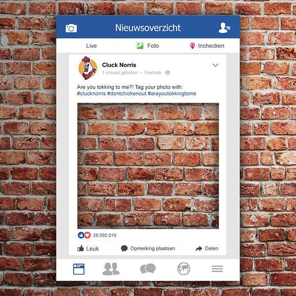 Facebook frame Facebook bord