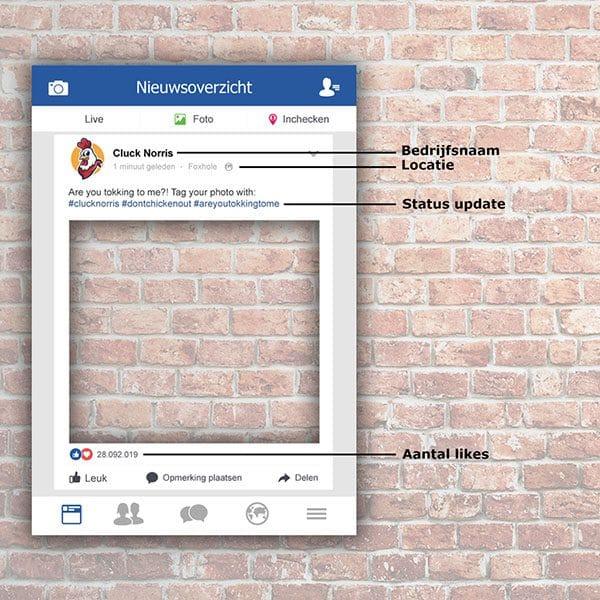 Facebook frame Facebook bord Foto frame hoe te bestellen