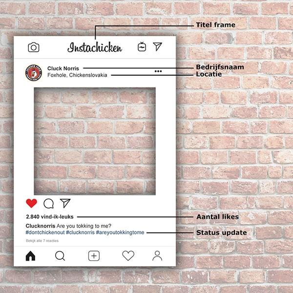 Instagram Frame Instagram Bord Instaframe Hoe Te Bestellen