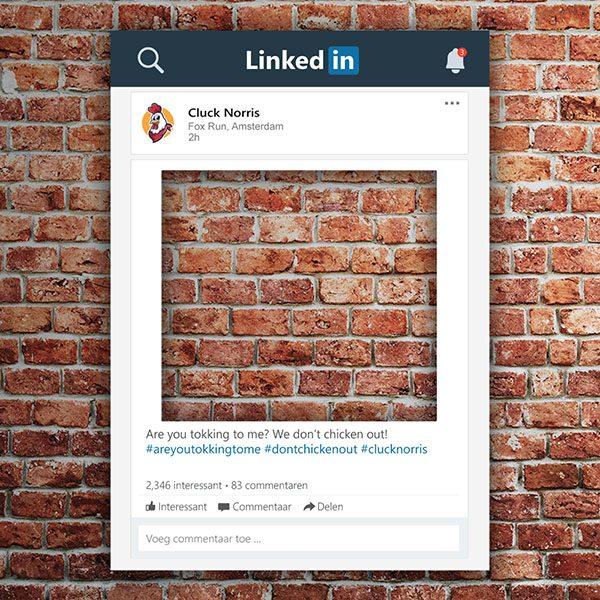 Linkedin frame Linkedin bord bestellen